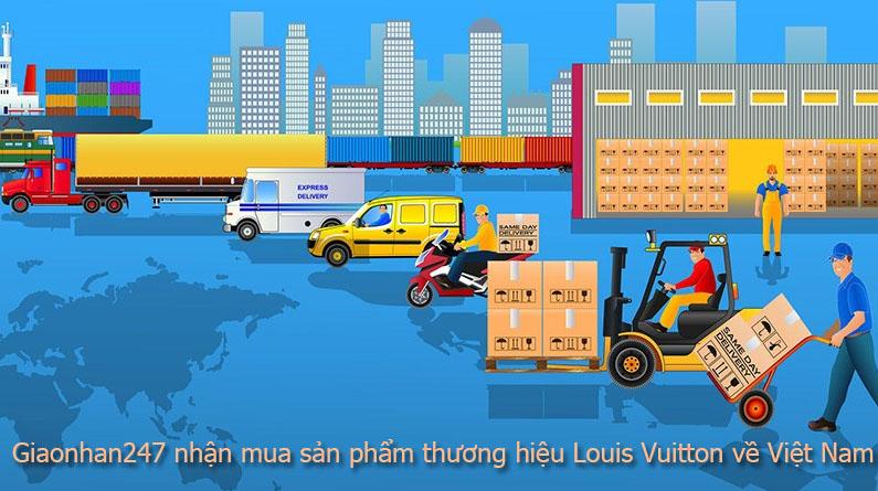 nhan mua san pham cua thuong hieu louis vuitton
