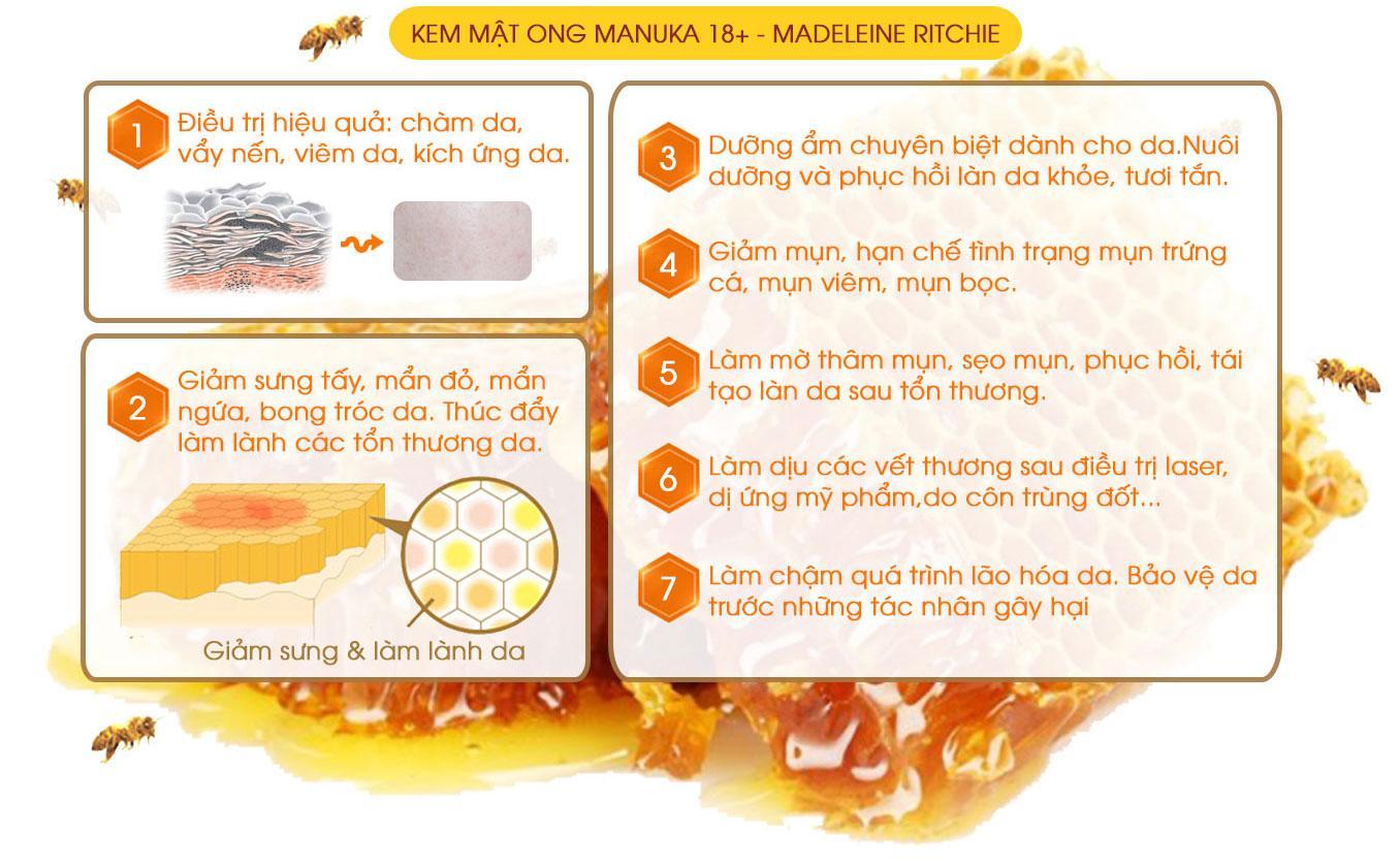 cong dung cua mat ong manuka