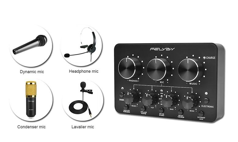 FELYBY Multifunctional Sound Card
