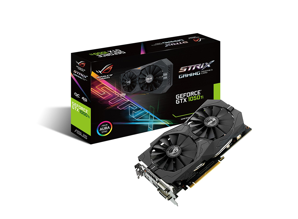 card do hoa ASUS Geforce GTX 1050Ti 4GB ROG STRIX OC Edition HDMI 2.0 DP 1.4 Gaming Graphics Card