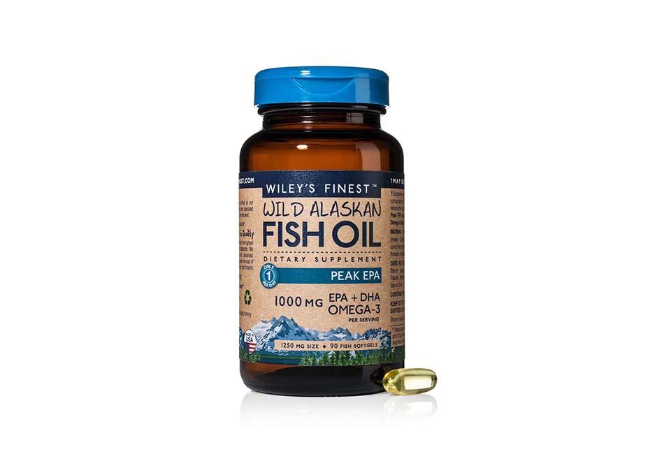 Wiley's Finest Wild Alaskan Fish Oil - 3X Triple Strength Peak EPA™ DHA