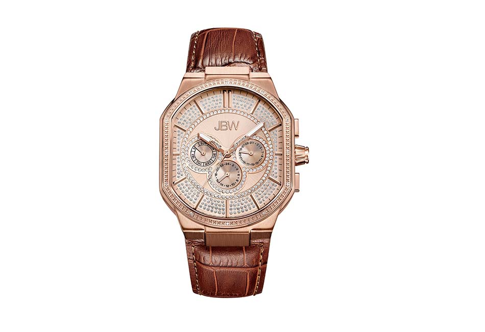 JBW Diamond Luxury Men's Orion 0.12 Carat Diamond Wrist Watch