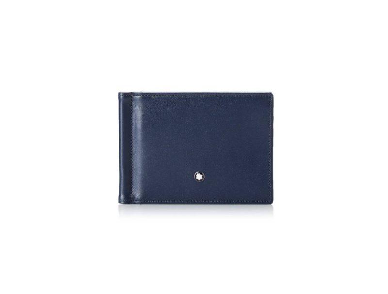 Montblanc Meisterstuck Men's Leather Wallet 6cc With Money Clip 114548