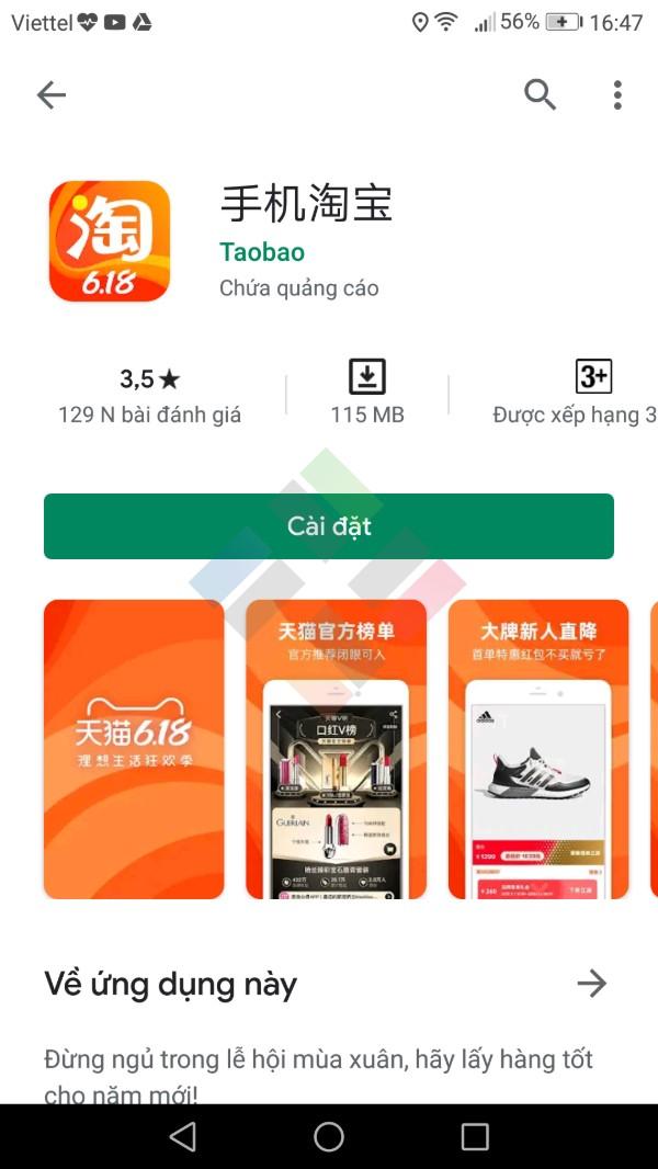 app mua hang trung quoc taobao