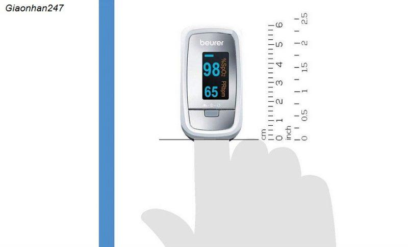 Máy đo nồng độ oxy và nhịp tim Beurer PO30