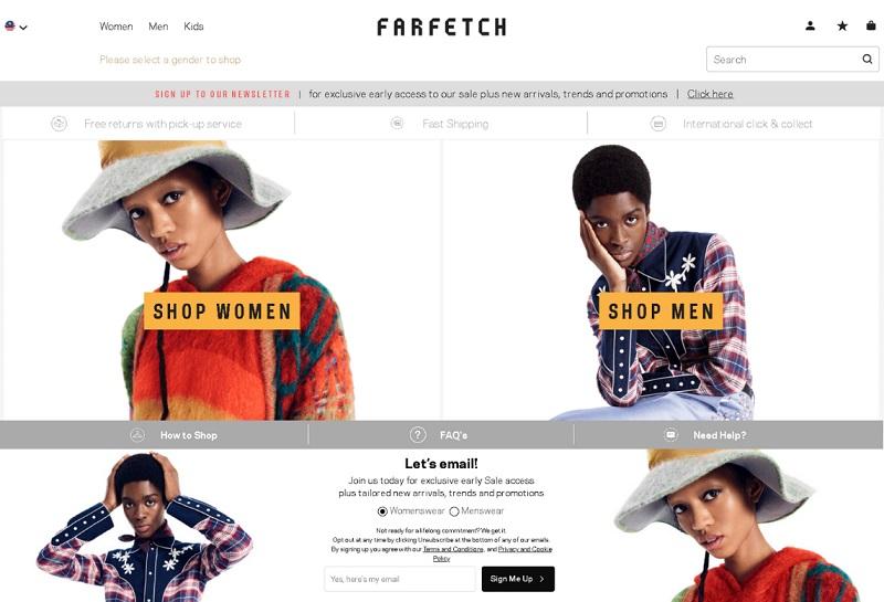 Cách mua hàng trên Farfetch